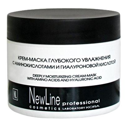 Крем-маска глубокого увлажнения с аминокислотами и гиалуроновой кислотой NEW LINE