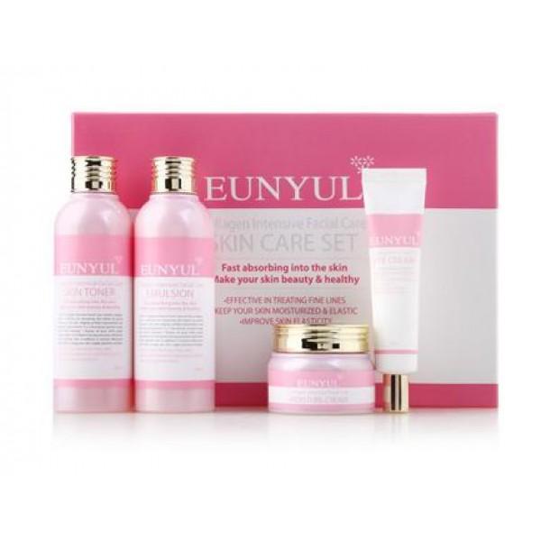 Подарочный набор средств с коллагеном для интенсивного ухода Eunyul Collagen Intensive Facial Care 4 Pcs 402012